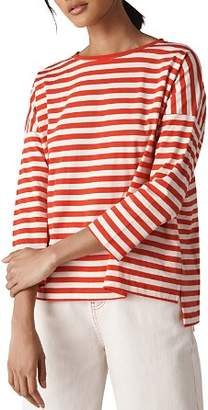 Whistles Striped Boxy Tee