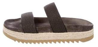 Brunello Cucinelli Monili Flatform Sandals