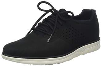 Timberland Men's Bradstreet Perf Plain Toe Oxford Low-Top Sneakers, (Black Nubuck), 45.5 EU