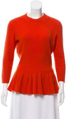 Tory Burch Wool Peplum Sweater