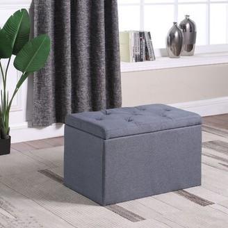 Charlton Home Threatt Shoe Gauze Upholstered Storage Bench Charlton Home