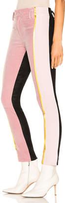 Haider Ackermann Side Stripe Two Tone Trousers in Pale Rose & Black | FWRD