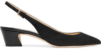 Gemma 40 Suede Slingback Pumps - Black