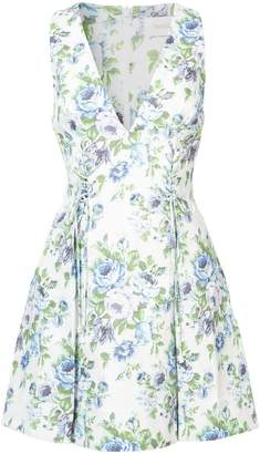 Zimmermann lace-up floral dress
