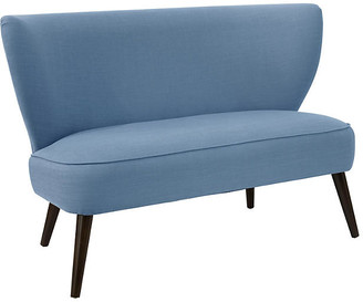 One Kings Lane Heidi Settee - French Blue Linen