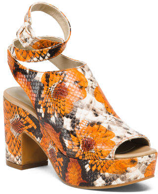 Made In Spain Leather Platform Sandals