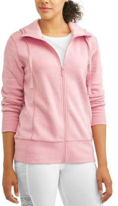 Avia Women's Active Cold Weather Full Zip Tunic Length Hoodie