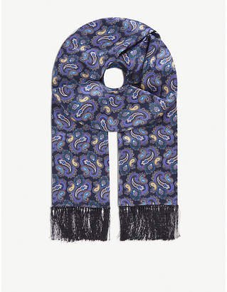 Eton Paisley silk scarf