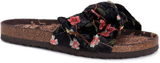 Muk Luks Womens Faun Ankle Strap Flat Sandals