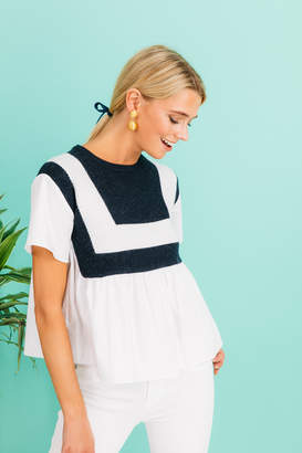 ENGLISH FACTORY Tanner Knit Top