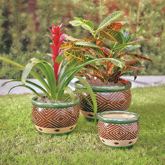 World Menagerie Adamsdale 3-Piece Ceramic Pot Planter Set