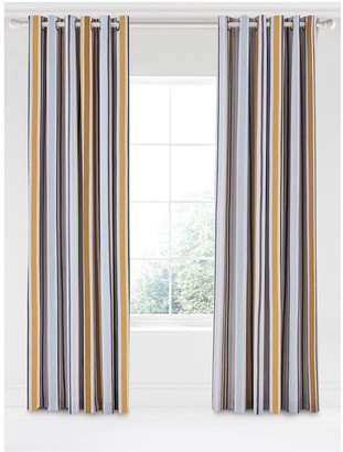 Camilla And Marc Scion SCION Lintu 100% Cotton Panama Lined Eyelet Curtains 168 x 229 cm
