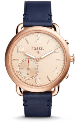 Fossil Hybrid Smartwatch - Q Tailor Dark Navy Leather