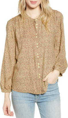 Hinge Double Button Top