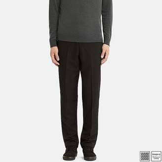 Uniqlo Men's U Wool-blend Wide-fit Tapered Pants