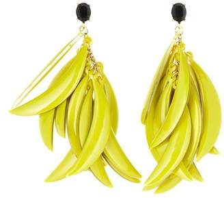 Oscar de la Renta Banana Leaf Drop Earrings