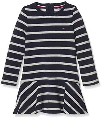 Tommy Hilfiger Girl's AME STRIPE HWK DRESS L/S Long Sleeve Dress,(Manufacturer Size: 4)