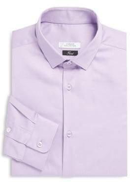 Versace Solid Cotton Trend-Fit Dress Shirt
