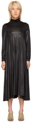 Maison Margiela Black Stretch Turtleneck Dress