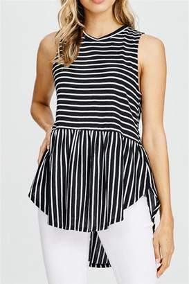 Cherish Striped Sleeveless Top