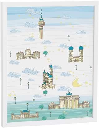 Eiffel Textile Germany-Table 40x 50cm Blue/Green