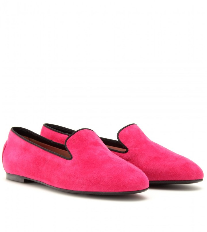Tod's SUEDE SLIPPER-STYLE LOAFERS