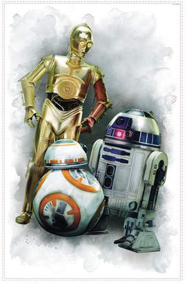 York Wall Coverings York Wallcoverings Star Wars The Force Awakens Ep Vii R2D2, C3Po, Bb-8 Peel and Stick Giant Wall Graphic