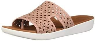 bba6b0c3b0f7 at Amazon.com · FitFlop Women s H-BAR Slide Sandals-Latticed Leather