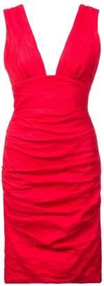 Nicole Miller creased effect mini dress