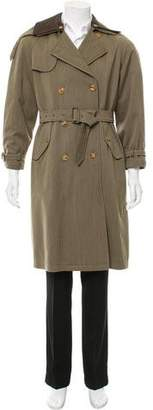 Giorgio Armani Wool Button-Up Coat