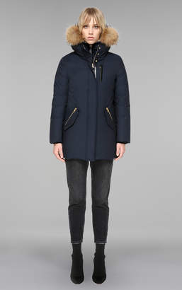Mackage MARLA mid length winter down coat with fur and removable bib