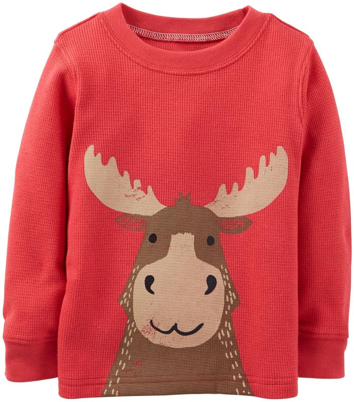 Carter's Moose Tee (Baby) - Red-3 Months