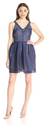 Minuet Women's Stripe Fit and Flare Dress