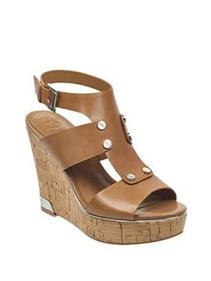 fbd51d4ae GUESS Brown Platform Women s Sandals - ShopStyle