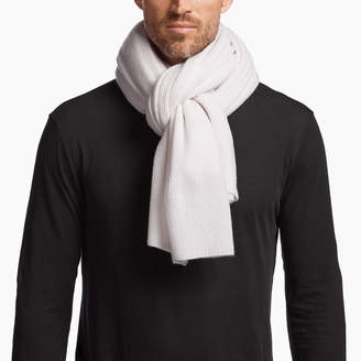 James Perse LIGHTWEIGHT CASHMERE RIBBED SCARF