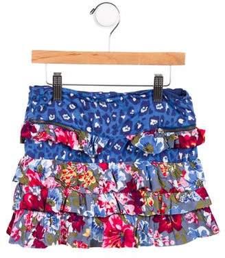 Catimini Girls' Printed Ruffled Skirt