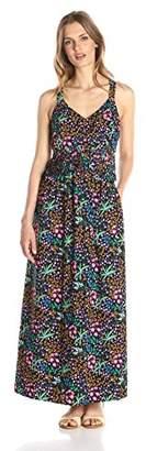 Lark & Ro Women's Pleated Sleeveless Maxi Dress