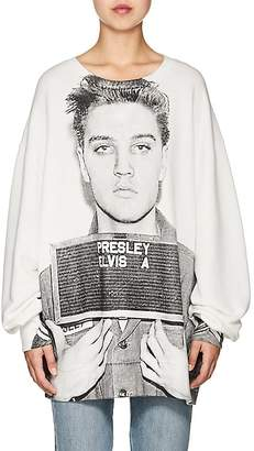 R 13 Women's Mugshot Stretch-Cotton Terry Sweatshirt