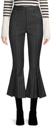 Frame Pinstriped Cropped Flared Pants