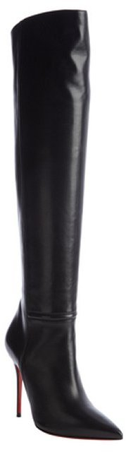 Christian Louboutin black leather 'Armurabotta 100' tall boots