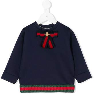 Gucci Kids Web trim sweatshirt