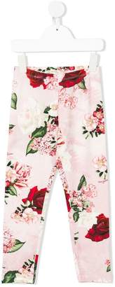 MonnaLisa Chic floral-print leggins