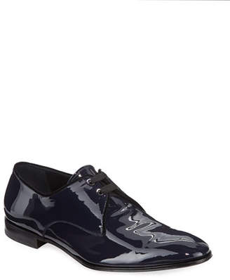 Salvatore Ferragamo Men's Broadway Patent Leather Oxford Shoe