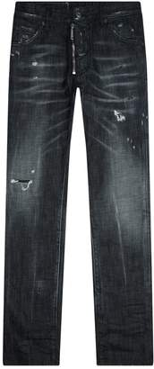 DSQUARED2 Distressed Zip Jeans