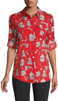 Karl Lagerfeld Paris Whimsical-Print Shirt
