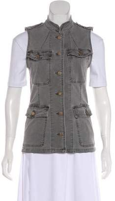 J Brand Sleeveless Denim Vest