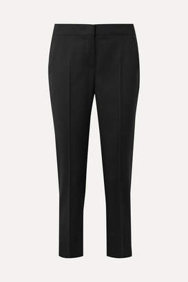 Max Mara Uranio Cropped Wool-crepe Straight-leg Pants - Black