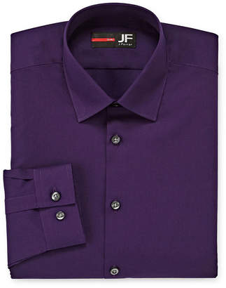 Jf J.Ferrar Easy-Care Stretch Solid Long Sleeve Broadcloth Dress Shirt - Slim