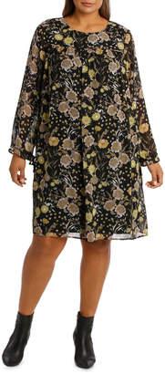 Dress Multi Ruffle Floral