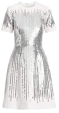 Ahluwalia Women's Sequined Fit-&-Flare Dress